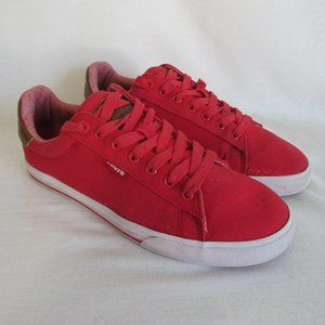 Levi's Red Canvas Fashion Sneaker Lace Up Men's 8
